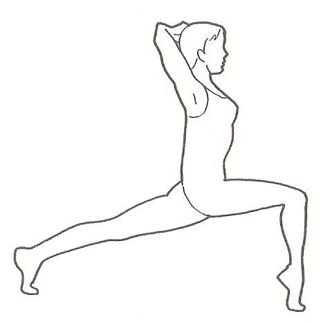 La fente en équilibre  -  (photo de la Revue Française de Yoga)
