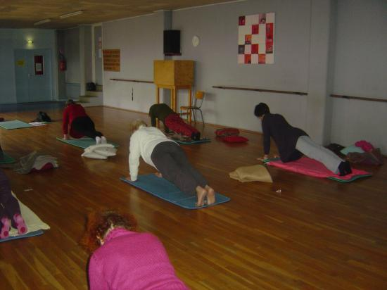 Salle de yoga (Belle Isle) : posture du guetteur